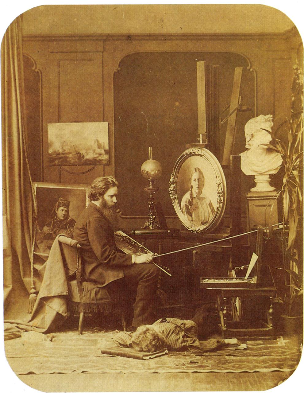 В мастерской живописца