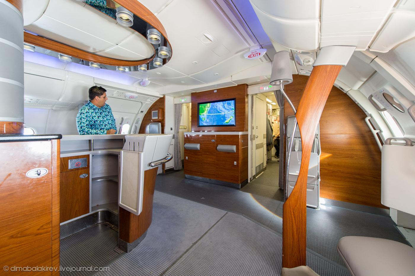 Бизнес-класс A380 Emirates