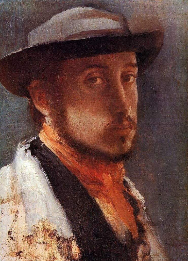 Автопортрет ок. 1858_Дега Эдгар(1834-1917)