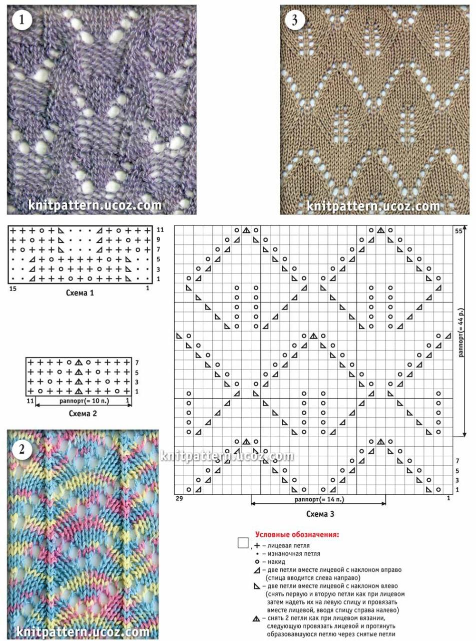 Схема вязания спицами ажурный шарф 18 фотография