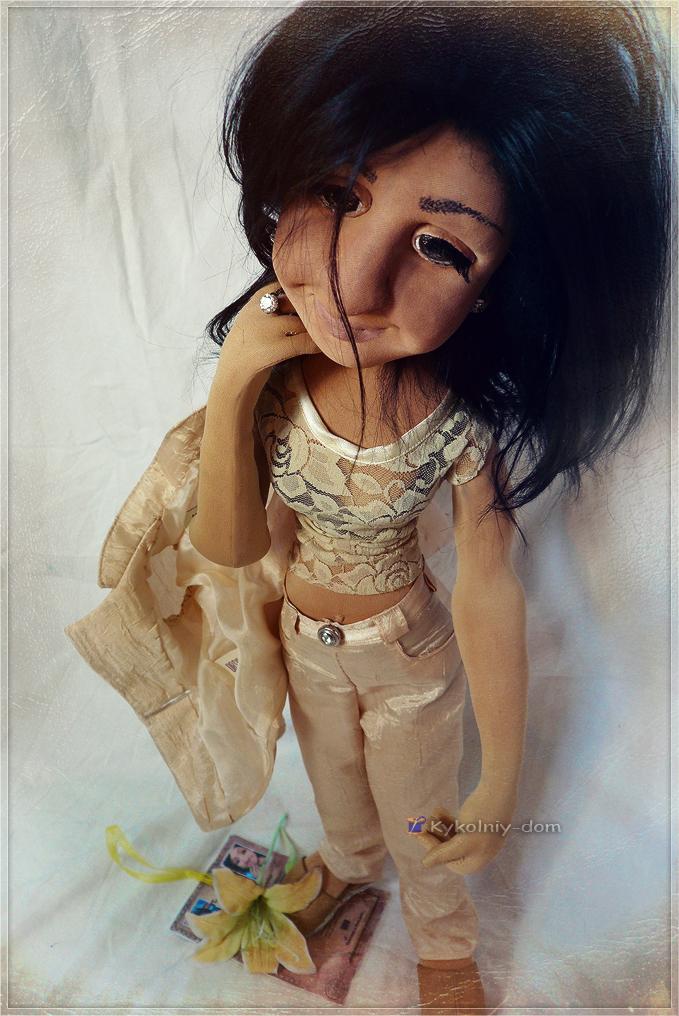 Портретная кукла по фото.Кукла с портретным сходством Елена.