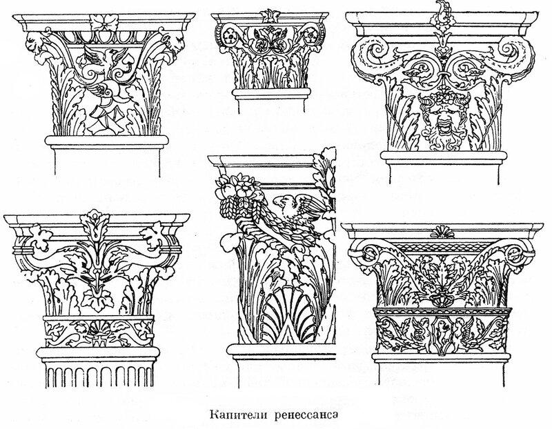Коринфские капители эпохи Ренессанса