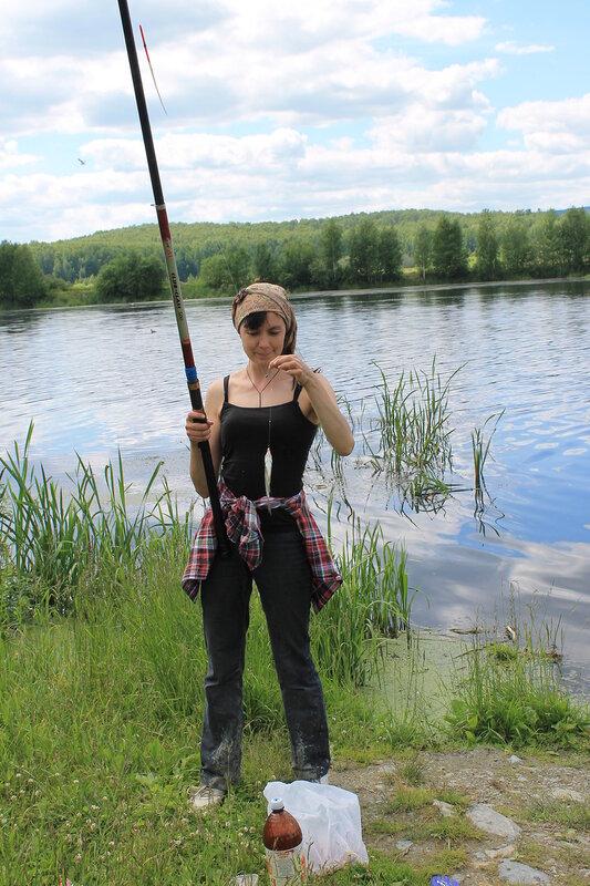 На рыбалке 21 июня 2014г.