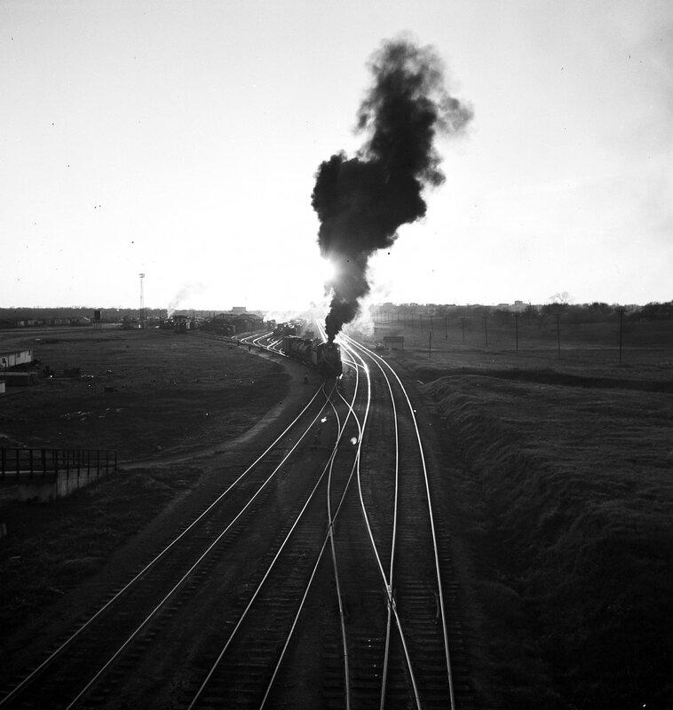 Locomotive 493, Lancaster Yard, Texas & Pacific Railway Company, Fort Worth, Tarrant County, Texas, ca. 1946