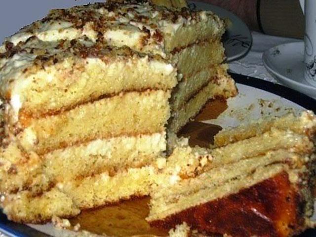 Этот тортик – самый нежный, очень простой, невероятно вкусный, во рту прямо тает. Пробуйте! Не пожалеете!.jpg