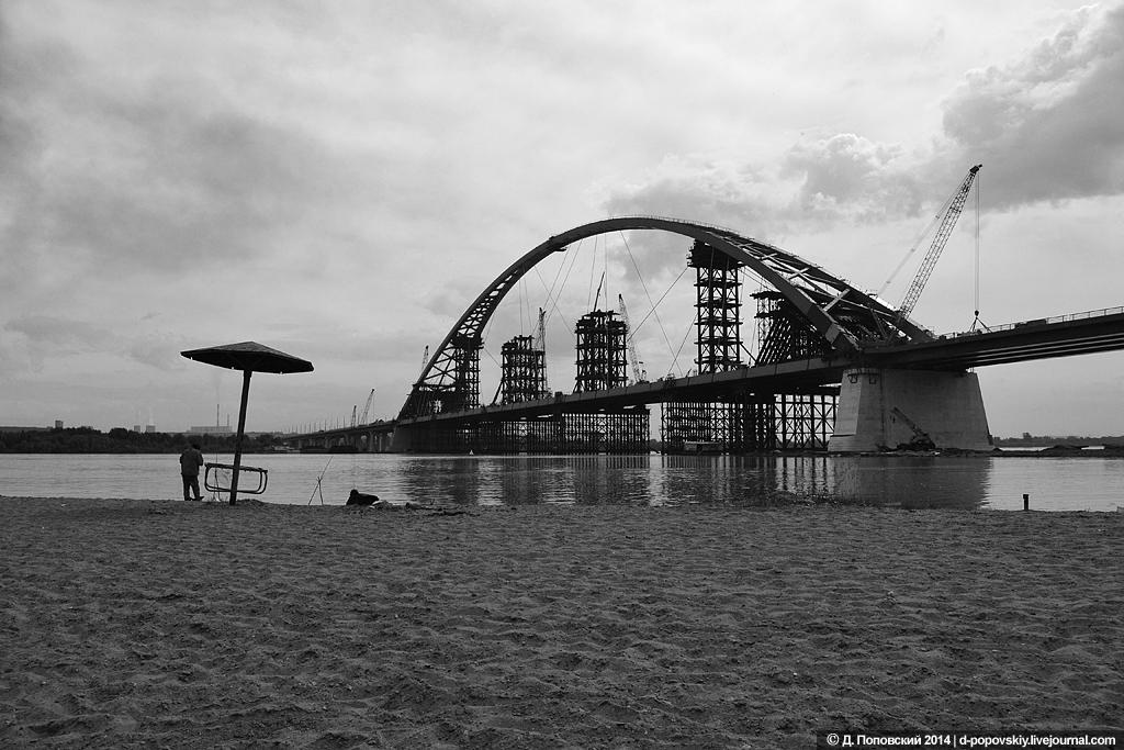 Черно-белые мосты Новосибирска | 683x1024
