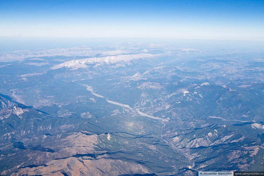 Балканский полуостров с самолёта