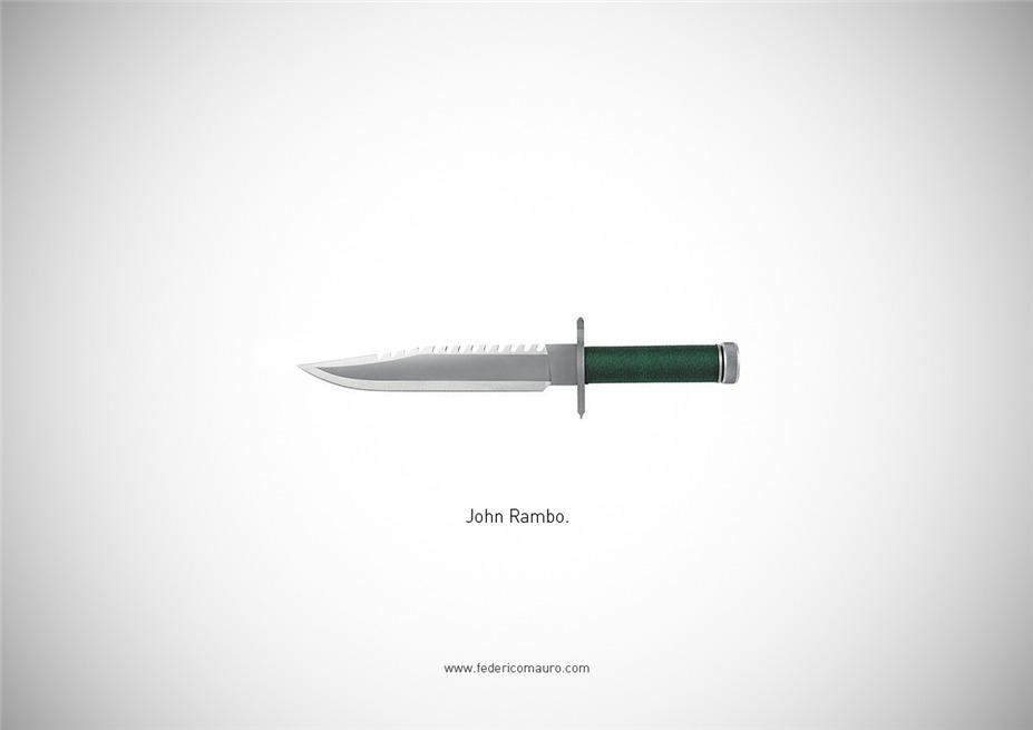Знаменитые клинки, ножи и тесаки культовых персонажей / Famous Blades by Federico Mauro - John Rambo