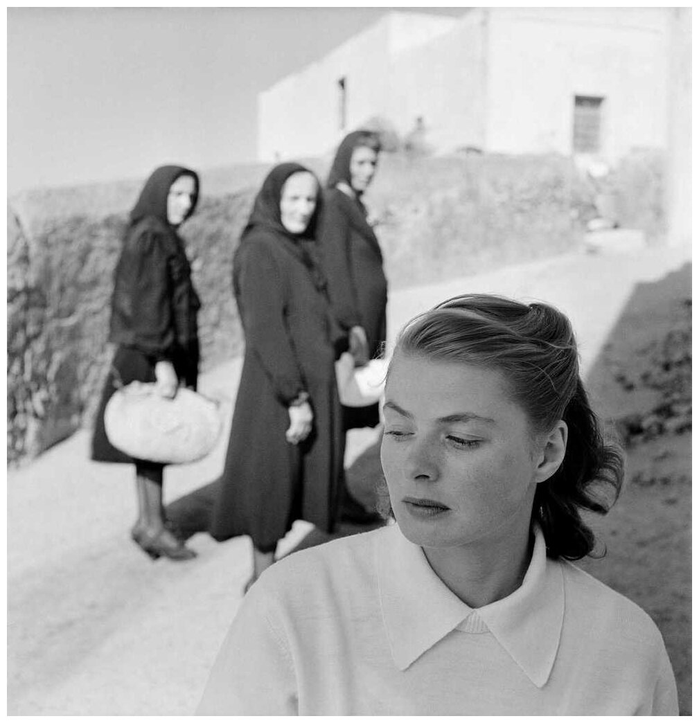 1945. Ингрид Бергман в Стромболи, Италия