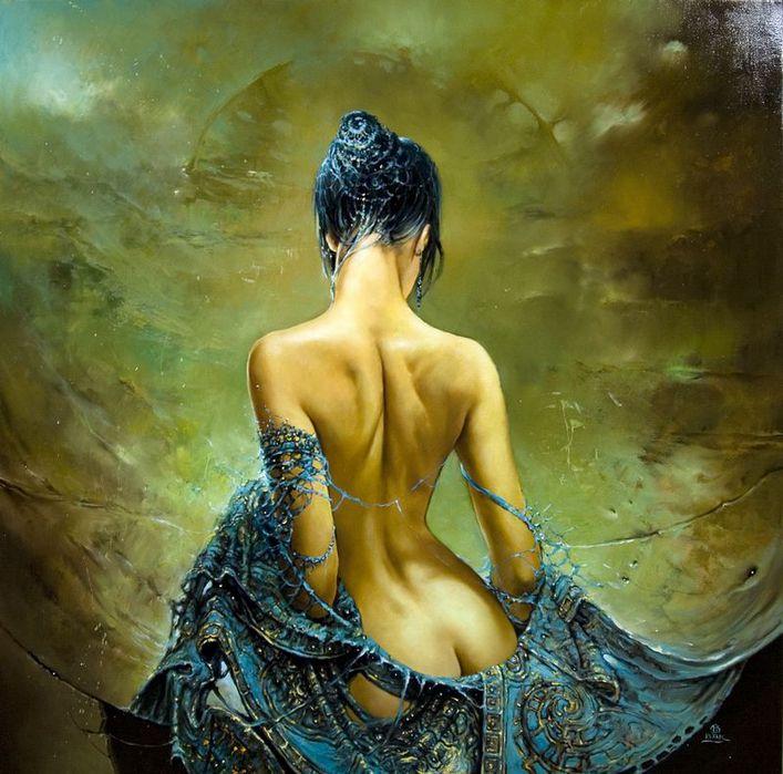 О женщина, тебе ль не знать Себя в Божественной  картине? Работы польского художника Кароля Бака