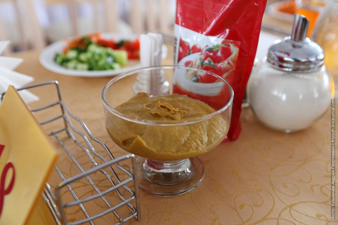 горчица в ресторане теплохода Русь Великая