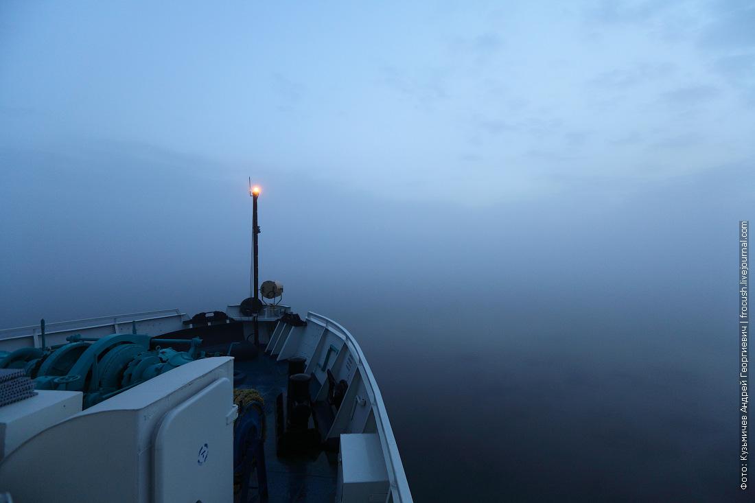 А туманенище просто чумой: где вода, где небо? Непонятно