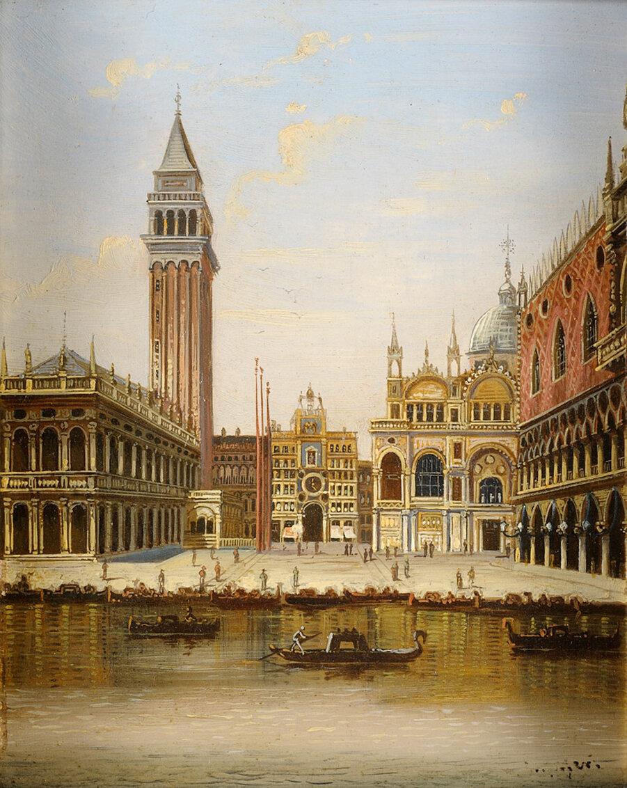 Výsledok vyhľadávania obrázkov pre dopyt st mark's square venice painting