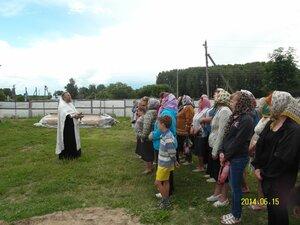 Служба на освящении крестов для храма в селе Рябчи. 15.06.2014 года.