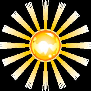 картинка солнце на прозрачном фоне