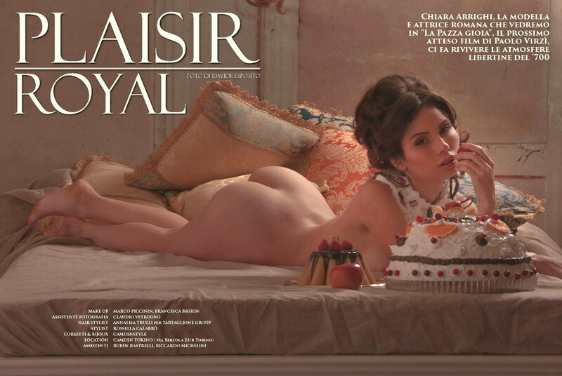 Chiara Arrihgi in Playboy Italy december-january 2015-2016