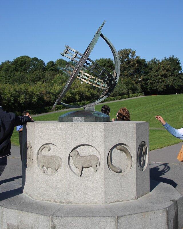 Vigeland Park. Sundial (Soluret)