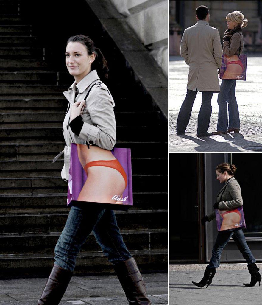 1. Магазин нижнего белья Blush Lingerie — «рентгеновский» пакетик.