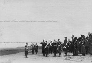 Рапорт фельдфебеля роты его величества приехавшему на парад императору Николаю II.