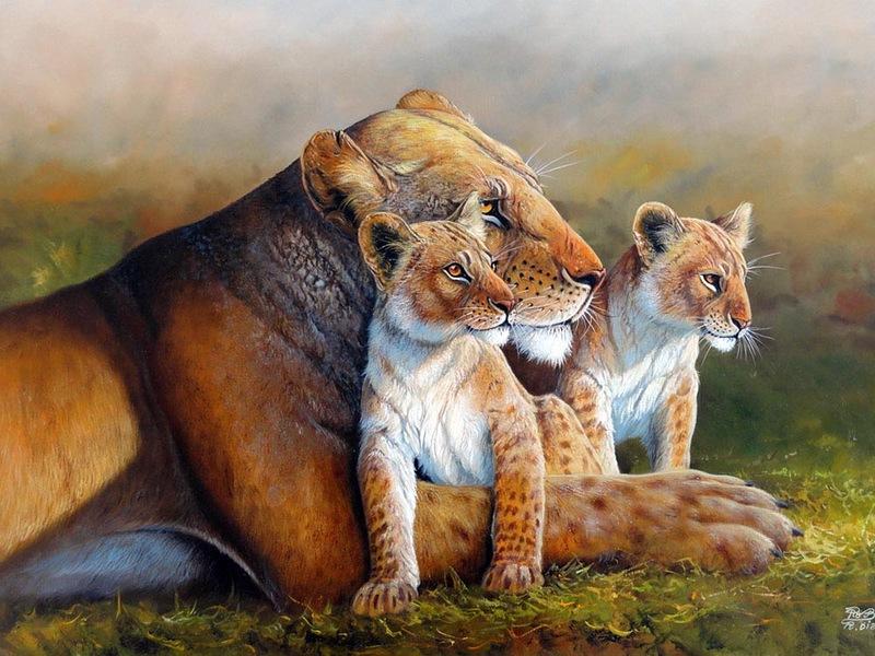 Художник Roberto Bianchi. Как животных в мире много грозных, добрых и смешных
