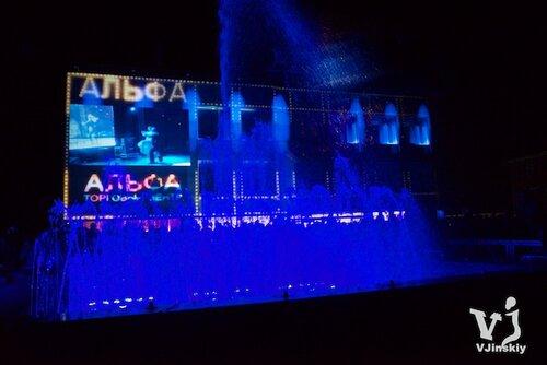 Маппинг на открытие ТЦ Альфа г.Новоалтайск 30 августа 2013 года