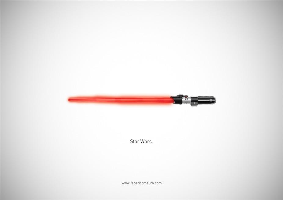 Знаменитые клинки, ножи и тесаки культовых персонажей / Famous Blades by Federico Mauro - Star Wars