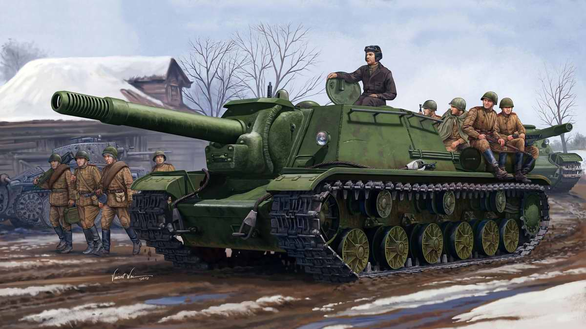 Советская тяжелая самоходно-артиллерийская установка ИСУ-152 (Vincent Wai)