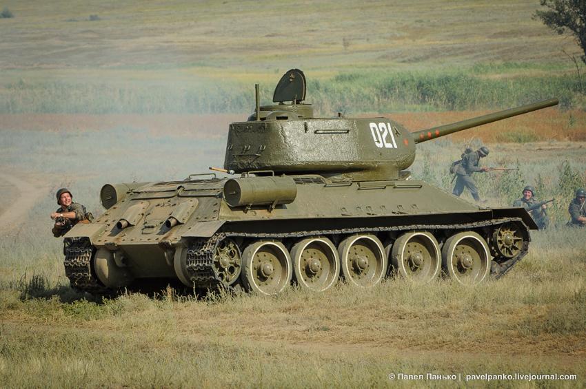 реконструкция Т-34 танк война Сталинград панько pavelpanko.livejournal.com