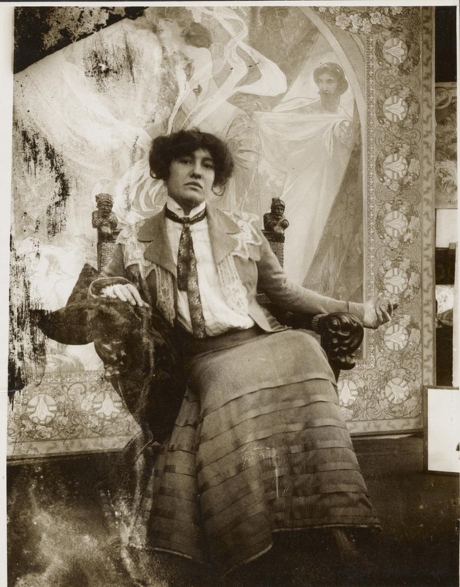 1903. Модель, используемая впоследствии для обложки рождественского номера журнала Le Gaulois (декабрь 1903)