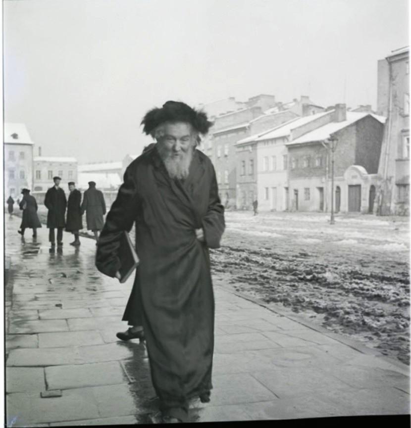Хасид в штреймеле в шаббат, Казимеж