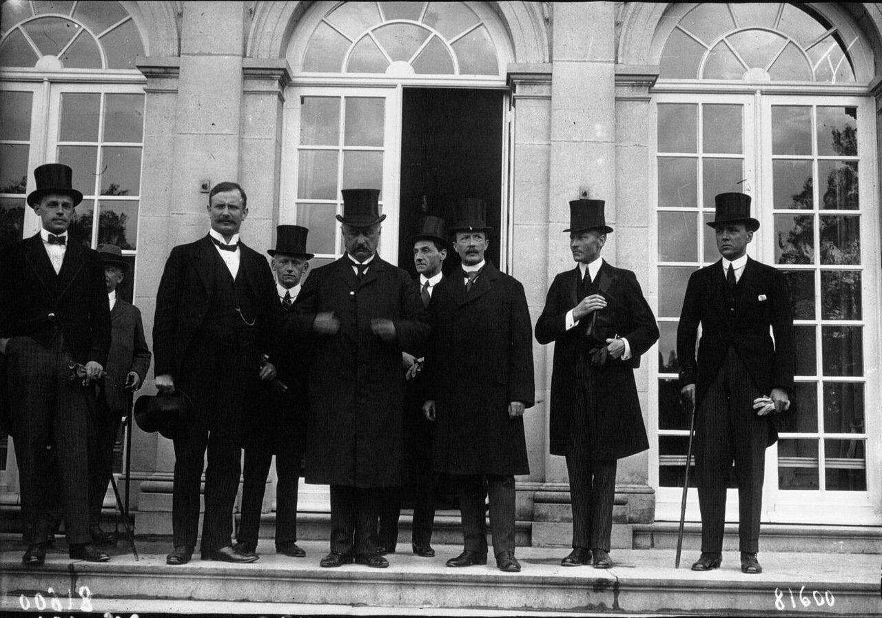 Конференция в Спа, немецкая делегация в центре