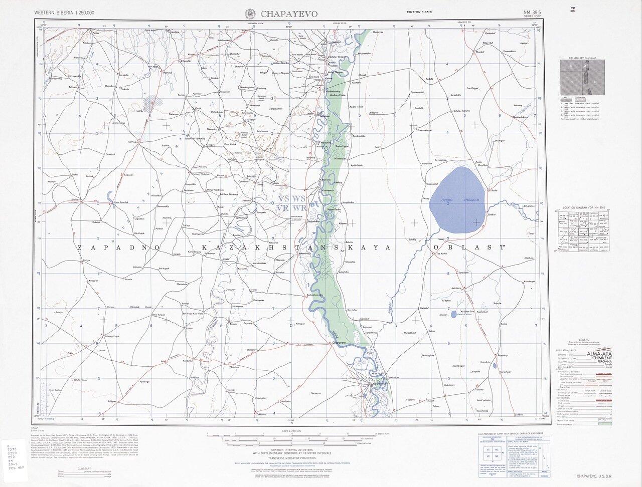 Топографические карты генштаба россии 1:100 000 1см=1км n-44-126