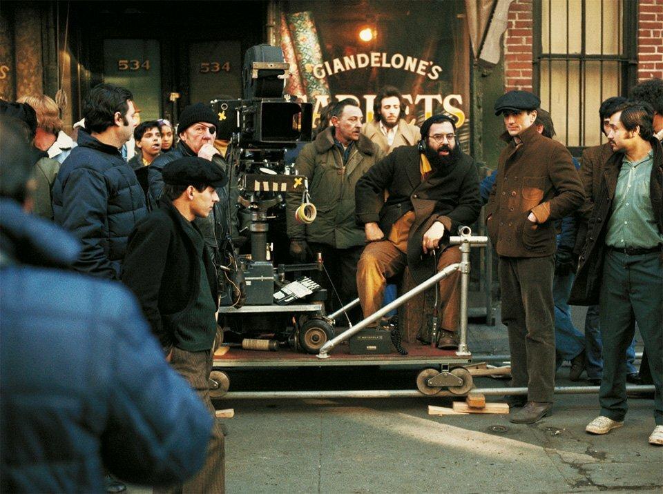 1974. Фрэнсис Форд Коппола и Роберт Де Ниро на съемках «Крестного отца», часть II