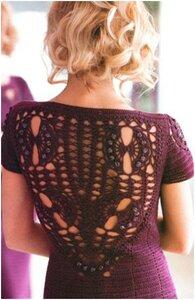 Малиновое вино - платье от Снежанны Сухомлиновой. Крючок