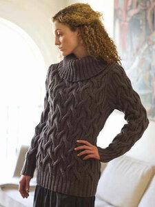 Путаные араны. Теплый-теплый зимний свитер от Berroco