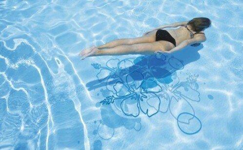 Водостойкие наклейки для бассейнов