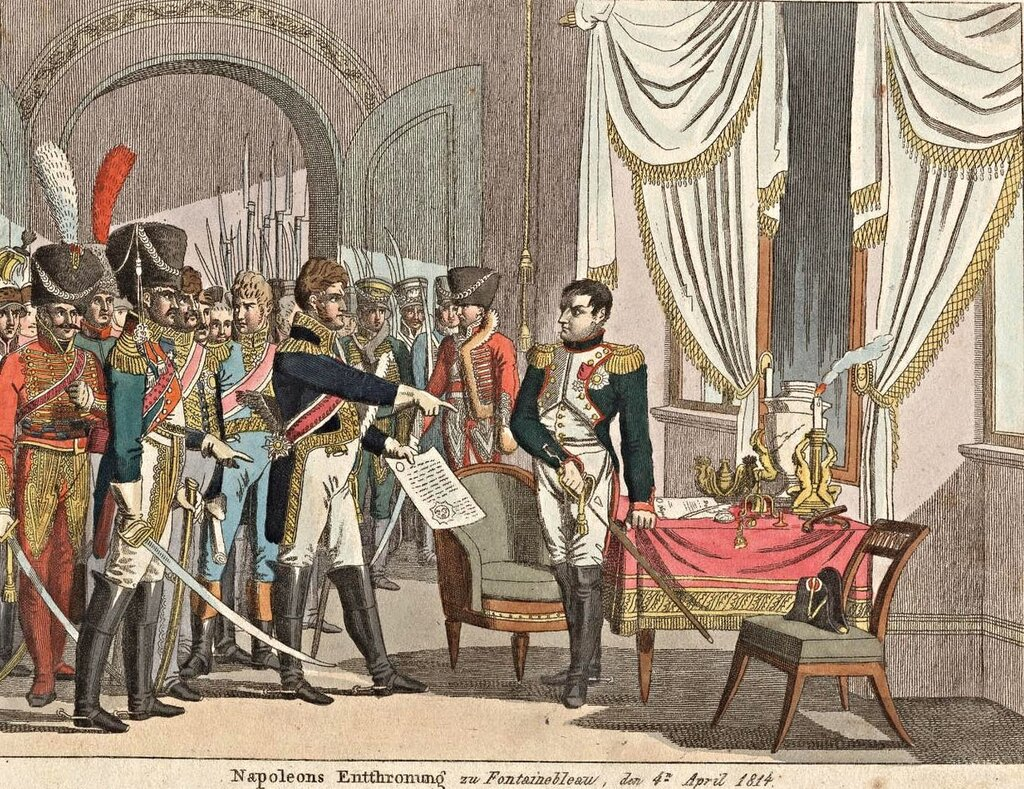 Камп Фридрих • Отречение Наполеона от власти. Фонтенбло, 4 апреля 1814.jpg