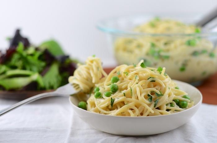 Вегетаринская Паста Карбонара