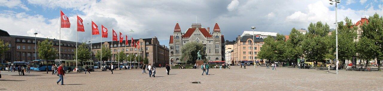 Helsinki, Rautatientori,Railway Square,Järnvägstorget. Хельсинки, привокзальная площадь,