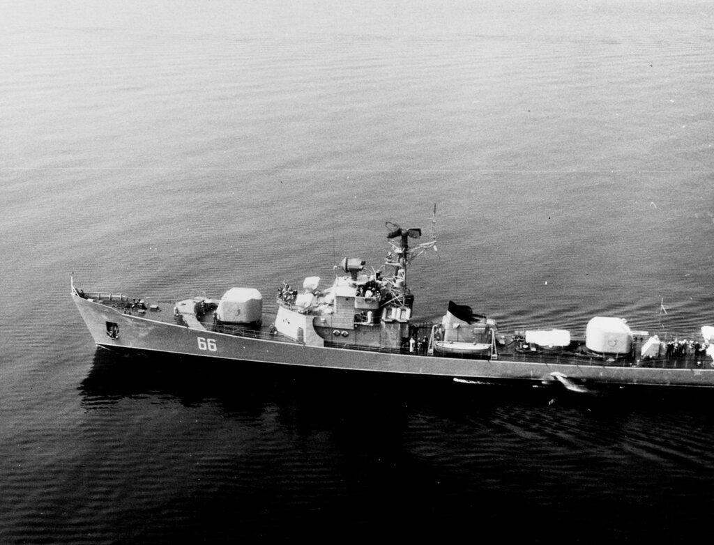 Soviet Petya Class Ocean Escort, photographed at 1235 hours Zulu time 21 May 1964 in the Baltic Sea.