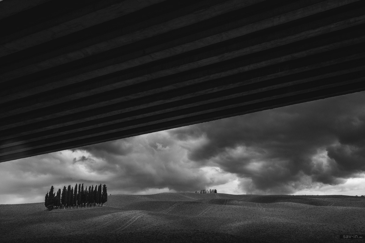 Тоскана. Чёрно-белая серия