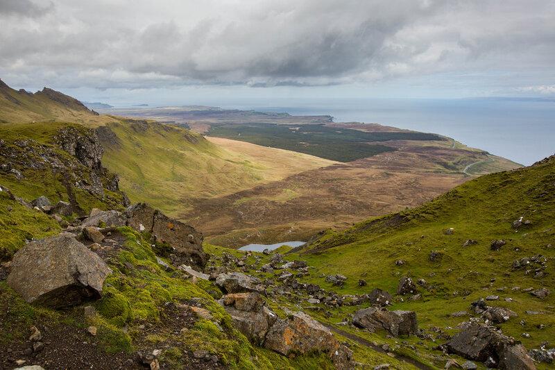 Каледония, горных пейзажей страна