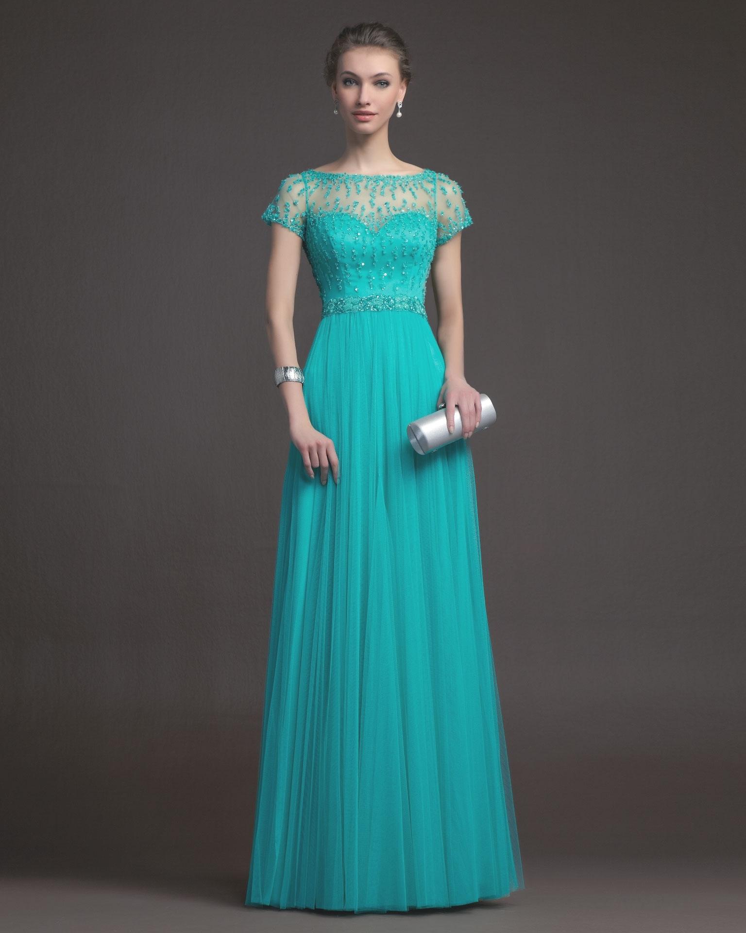 Красивые длинные платья в пол вечерние с рукавами