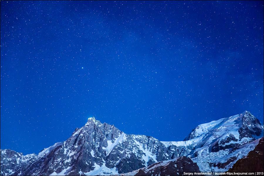 Звездное небо Альп