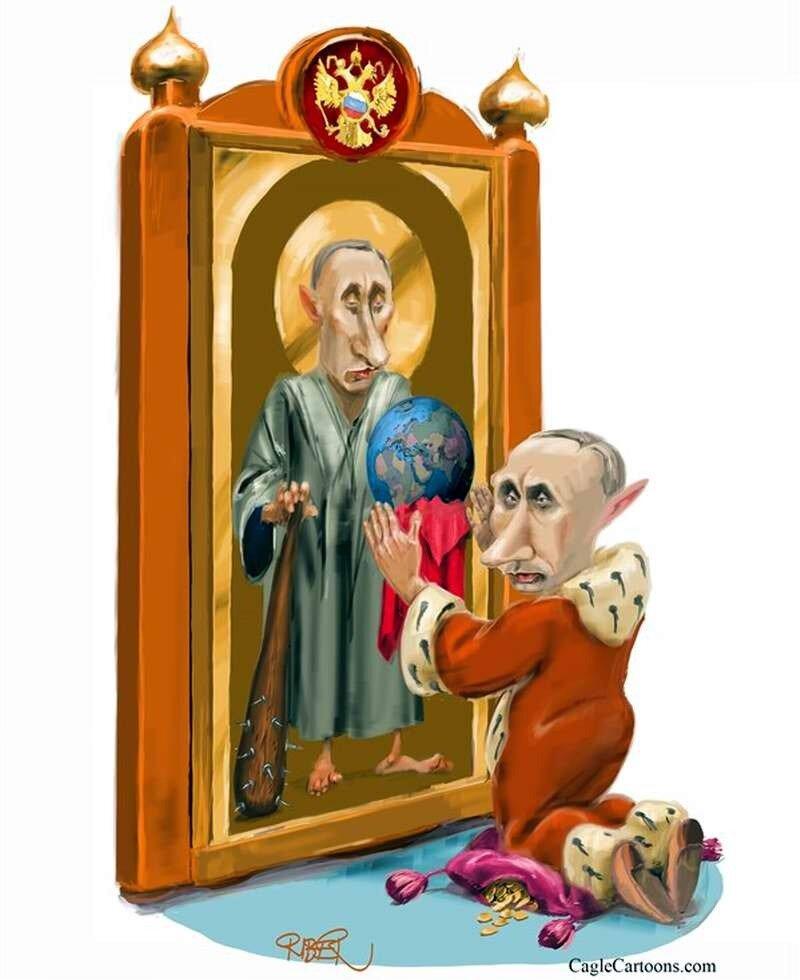 Путин молится самому себе (Riber Hansson)