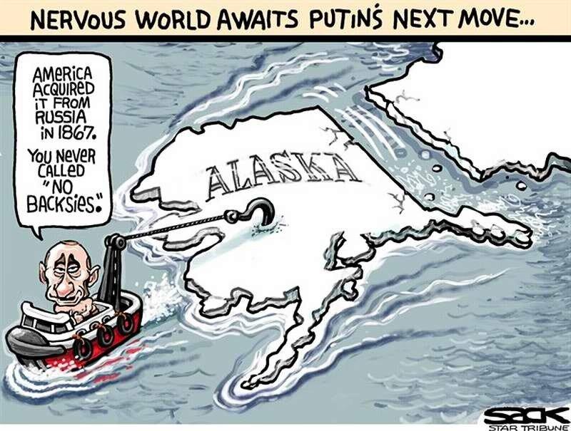 Мир с нервным содроганием ожидает следующего шаг со стороны Путина (Steve Sack)