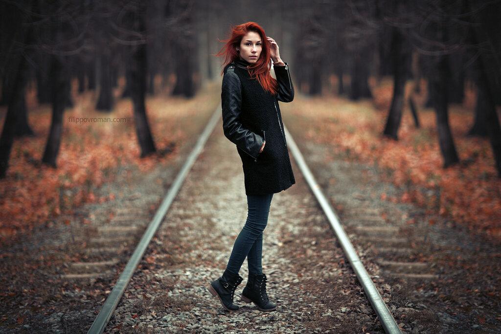 Фото на рельсах идеи осенью