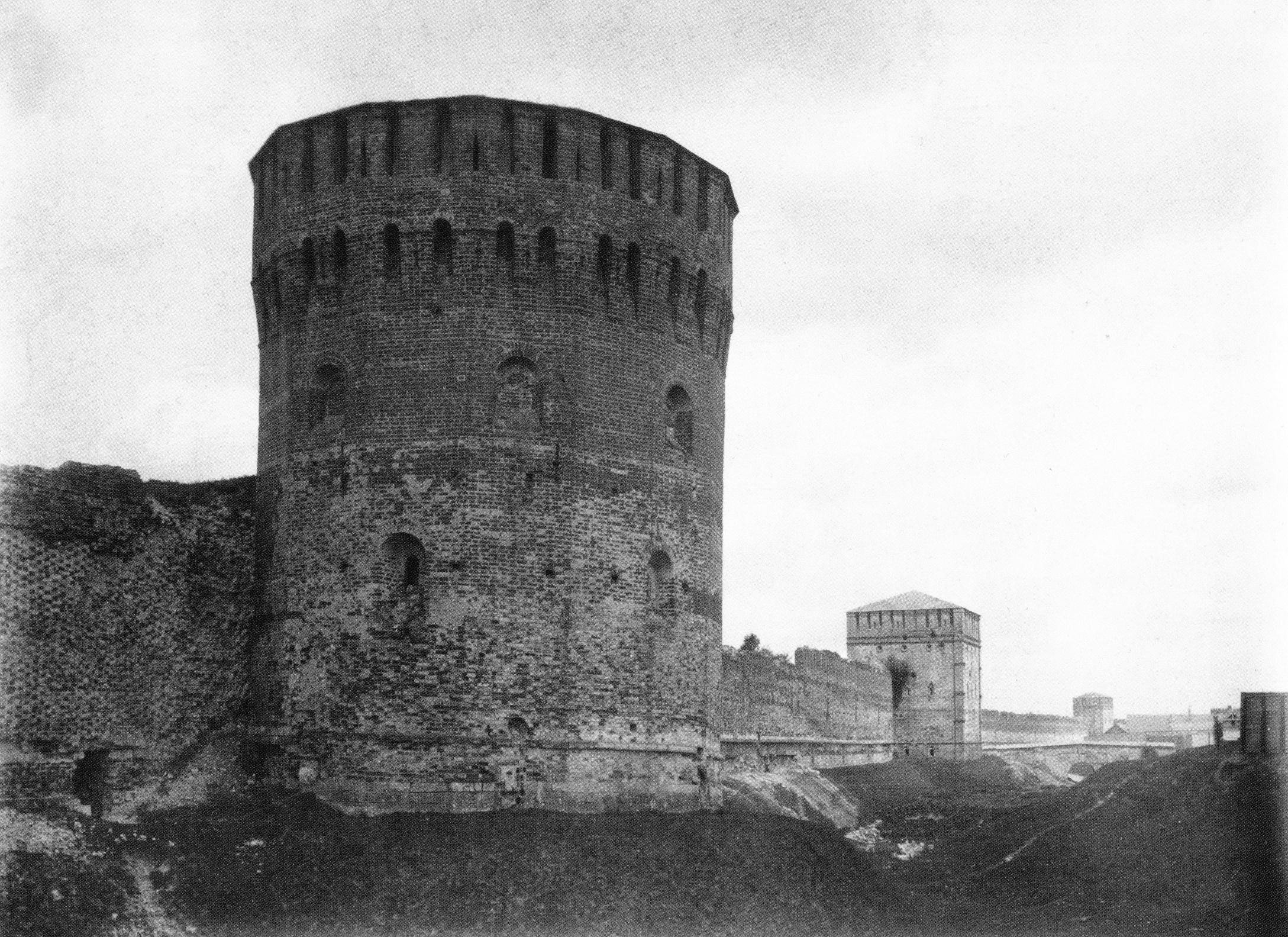 Башни Евстафьевская, Никольская и Зимбулка. 1889