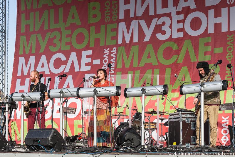 Концерт Инны Желанной на масленице в Музеоне
