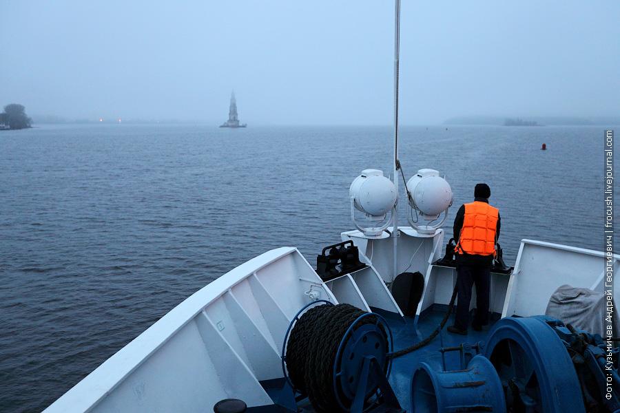 утренний туман в Калязине